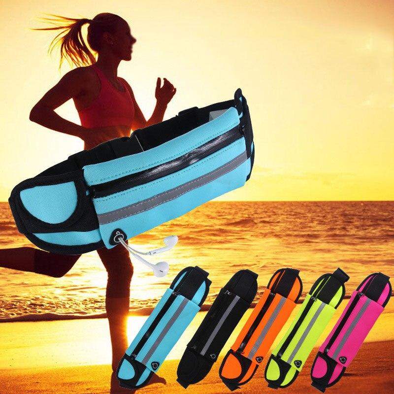 running - WANAYOU Waterproof Sport Running Waist Bag, 6.5 Inches Ultra-thin Outdoor Fitness Bags,Men Women Mobile Phone Gym Jogging Pouch