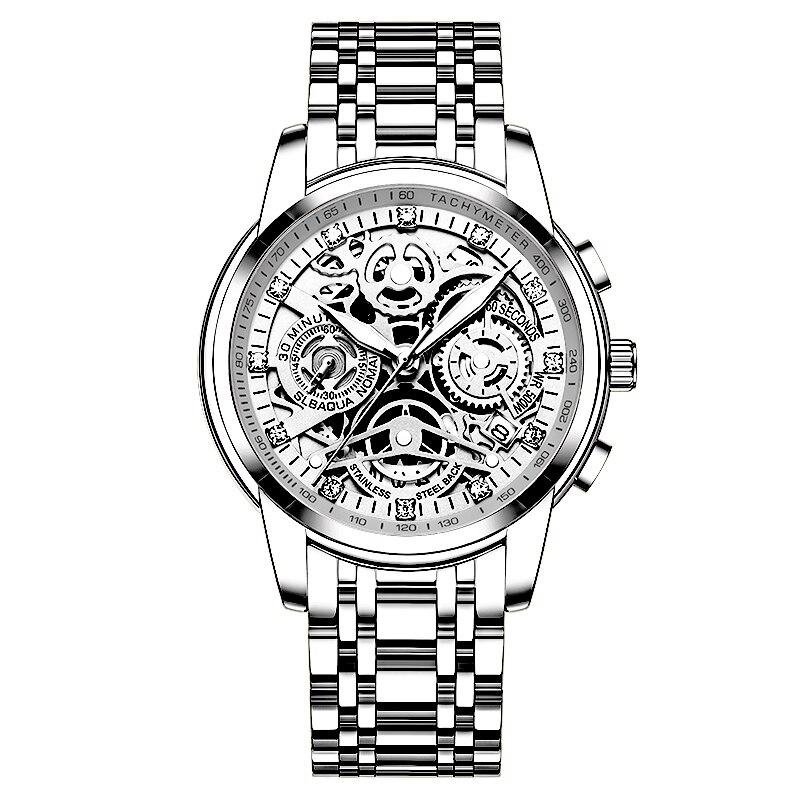 NEKTOM Relogio Masculino Wrist Watches Men 2019 Top Brand Luxury Golden Chronograph Men Watches Gold Big Male Wristwatch Man