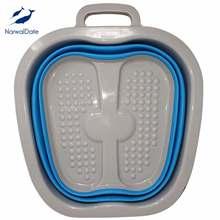 Большой складной умывальник для ног массаж педикюра ванна горячий