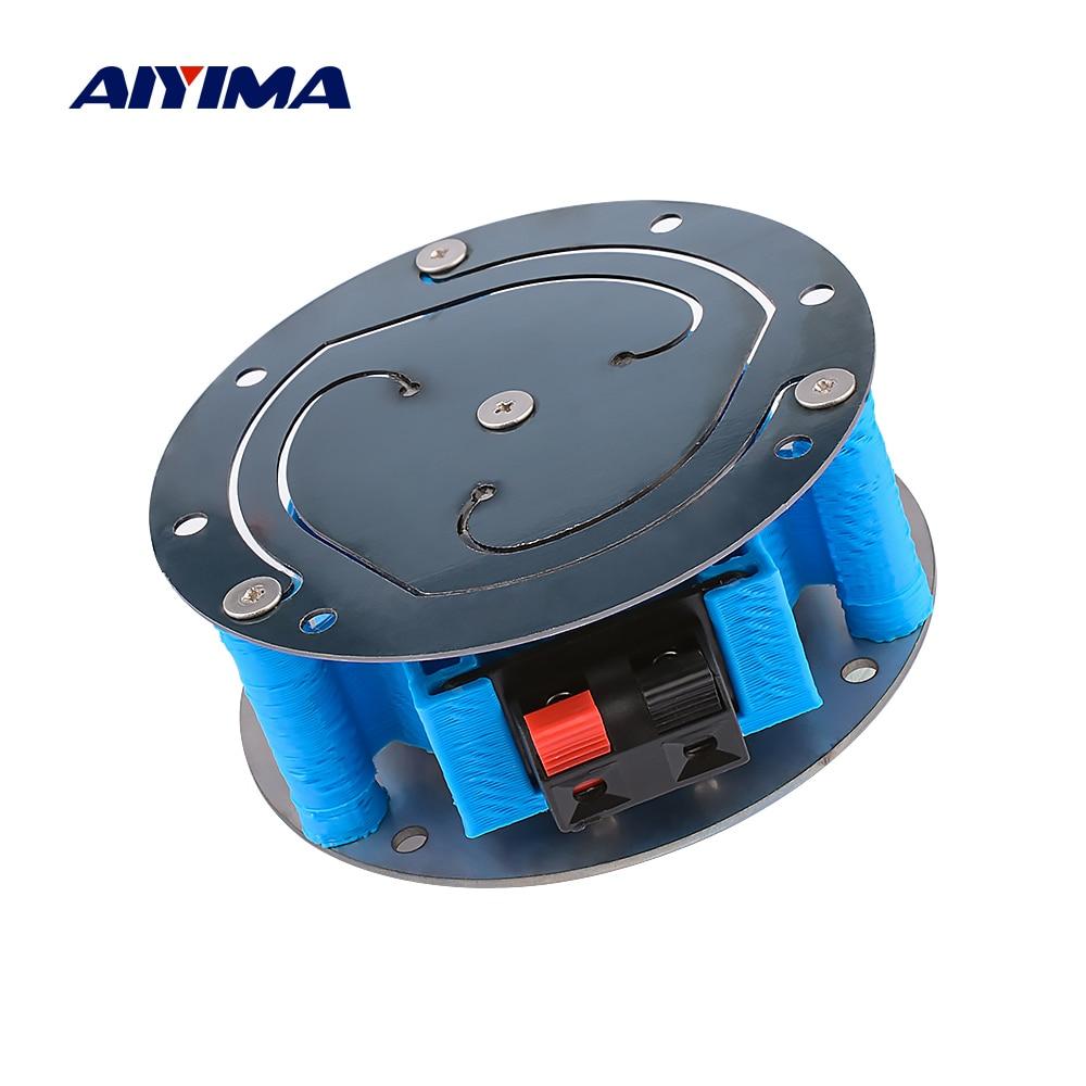 AIYIMA 3 дюймов вибрации Динамик 6 Ом 60 Вт бас шок Drive плоскости полный спектр резонанс автомобильное кресло диван музыкальный шок «сделай сам» ...