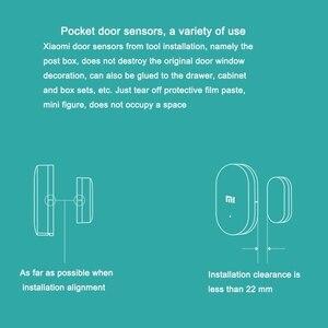 Image 5 - Xiaomi Deur Raam Sensor Smart Home Draadloze Schakelaar Alarm Systeem Zigbee Draadloze Sluit Werken Met Mijia Hub Mi Gateway 3