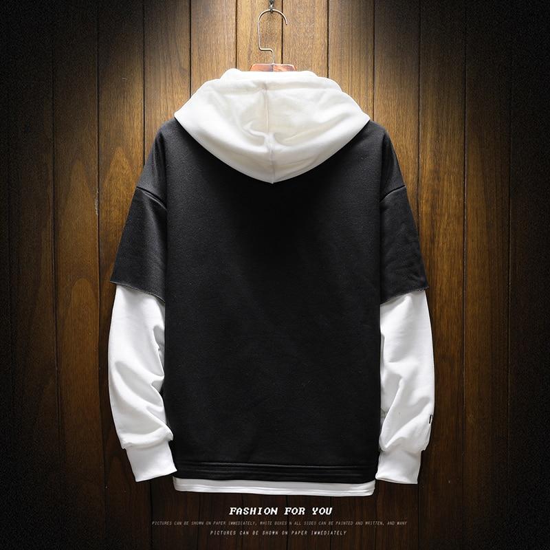 Pullover Plaid Long Sleeve fleece Hoodies Shirts Mens Hip Hop hoody hoodies Casual Shirts Fashion  japanese streetwear 4