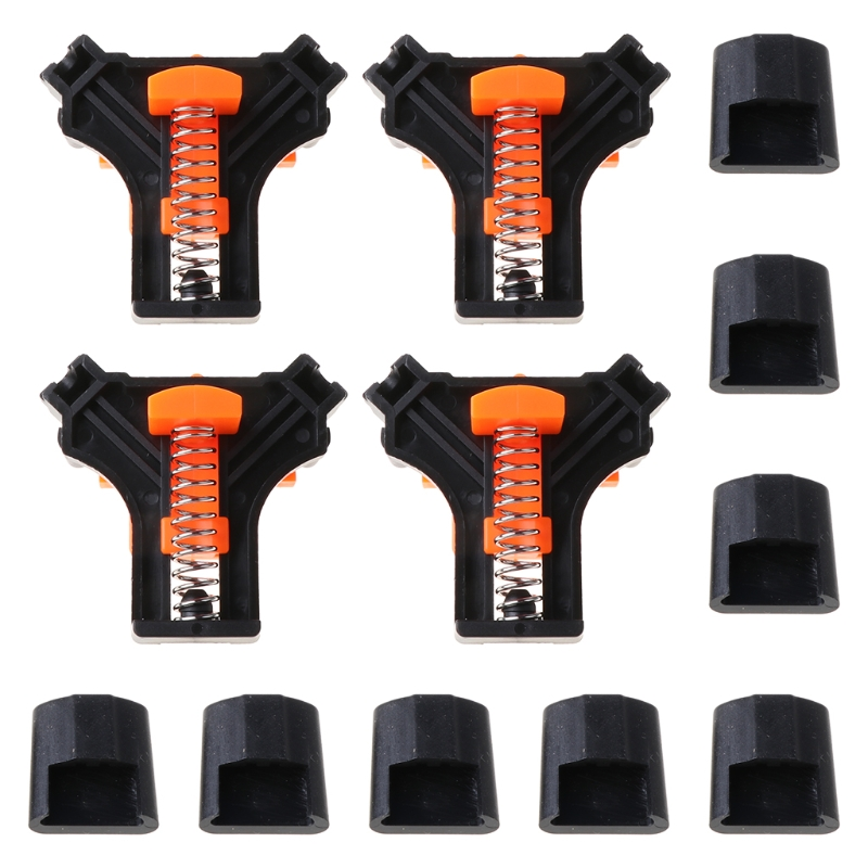 4pcs 90 Degree Clamp Right Angle Corner Fixing Frame Clips Holder Adjustable Spring Woodworking Tool