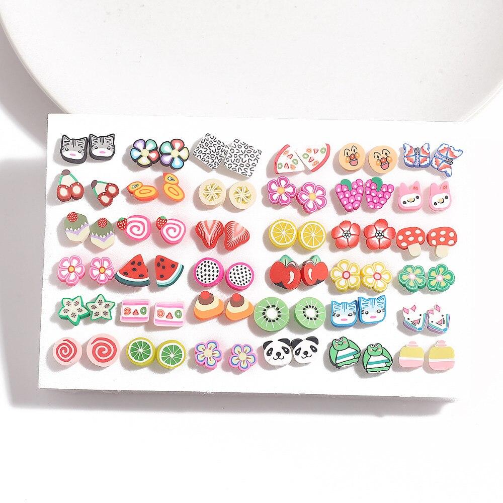 Conjunto de brincos stud pequenos para meninas, estilo misto coração feminino, brincos estilosos, presente de joia da moda