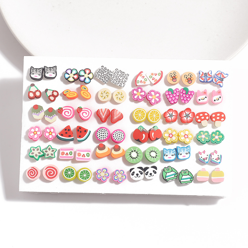Mix Style Small Stud Earrings Set For Girls Women Cute Heart Child Earring Fashion Jewelry Gift