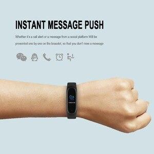 Image 5 - M4スマートリストバンド防水血圧心拍数モニターfitnesstrackerスマートブレスレットM4バンド腕時計スポーツ歩数計