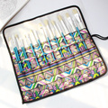 20 отверстий эскиз рисунок пакет цвет пенал из парусины рулон мешок макияж сумка для хранения ручек школьные канцелярские творческие принад...