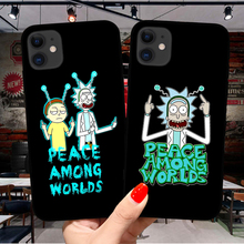 Cartoon Anime Rick And Morty Phone Case For iPhone 11 Pro X XR XS Max SE 6 6S 7 8 Plus 5s Soft Silicone TPU Cover Coque Fundas uyellow star wars watercolor soft tpu case for one plus 7 pro 6 6t 5 5t fashion fundas printed cover silicone luxury phone coque