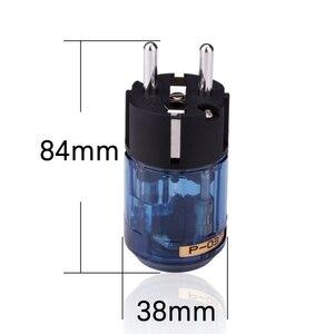 Image 5 - Oyaide HIFI C 037 P 037e Schuko Europe EU Power Plug Rhodium Plated  IEC Audio Connector Female Male MATIHUR audio  1 Pairs New