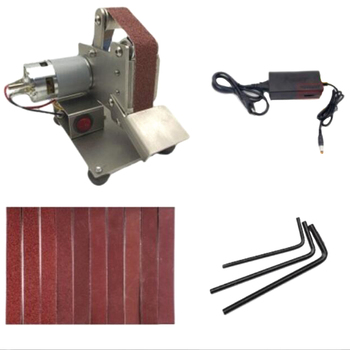 Top-US Plug Small Belt Machine DIY Polishing Machine Grinding Machine Fixed Angle Grinding Machine Desktop Blade