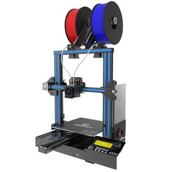 geeetech 3d printer a10t 3 in 1 out mixed property upgrade gt2560 v4 0 controlboard 220x220x250mm lcd2004 fdm ce 3D Printer 2 in 1 mixed color 220*220*260mm print  area support  atuo-leveling and 3d wifi function  CE FDM