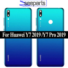Original New for Huawei Y7 2019 Y7 Pro 2019 Y7 Prime 2019 Back Battery Cover Rear Housing Y7 2019 Case Y7 Pro 2019 Battery Cover