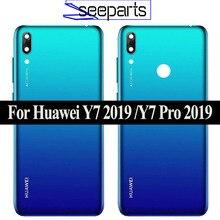 Orijinal yeni Huawei Y7 2019 Y7 Pro 2019 Y7 başbakan 2019 arka pil kapağı arka konut Y7 2019 kılıf y7 Pro 2019 pil kapağı