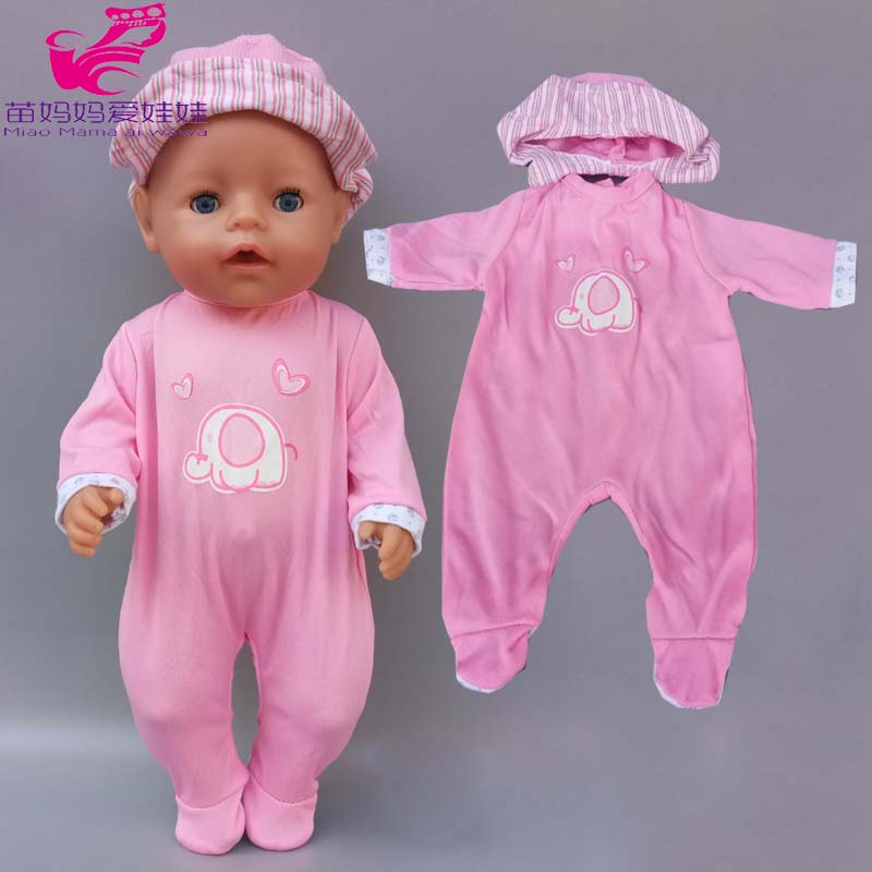 43cm 40cm Baby New Born Doll Clothes Pajama Overall For Children Girl 38cm Doll Toys Clothes
