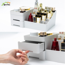 Desktop cosmetics storage box drawer type large plastic dressing table jewelry stationery sundries