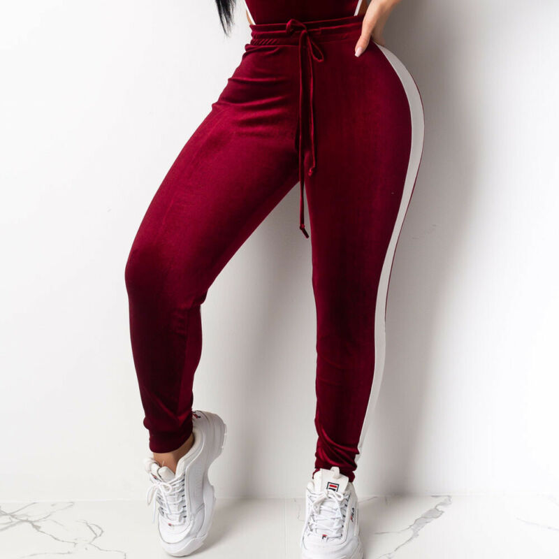 Velvet Women's Casual Pant Fitness Athletic Workout Clothing Tracksuit Sweatpants Harem Pants Autumn Winter Loose Ankle Trousers