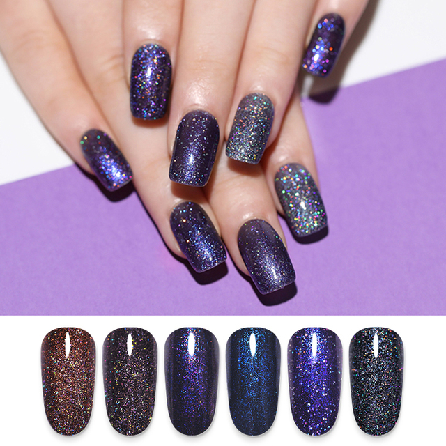 LILYCUTE 5ml Holographic Glitter Gel Nail Polish
