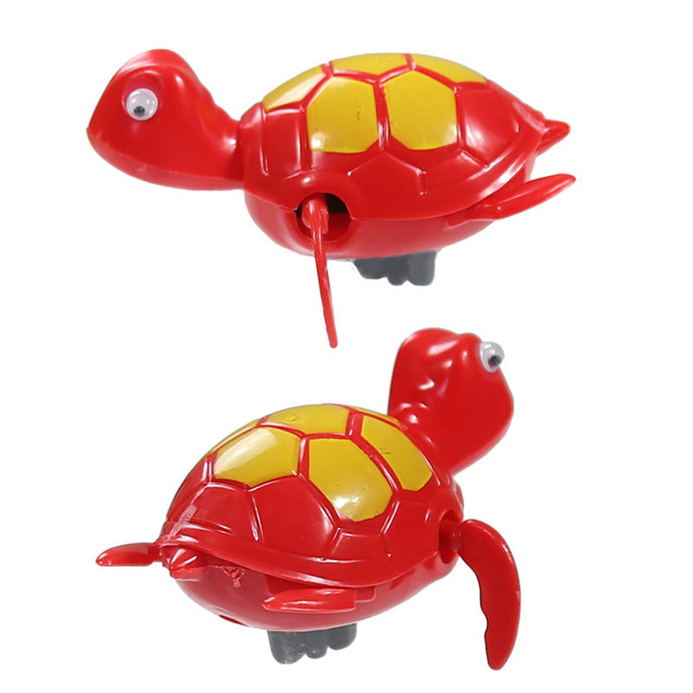 Single Sale Cute Cartoon Animal Tortoise Classic Water Toy  Funny Toys Swimming Chain Turtle Baby Bath Toys #A
