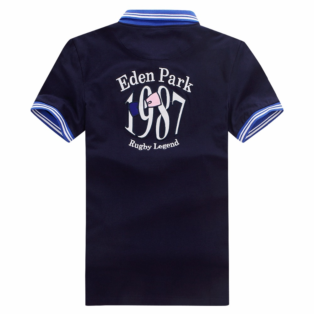 Eden Park Embroidery France Brand Summer Polo Shirt Men Short Sleeve Polos Shirts Slim Fit Men's Clothes Dress Poloshirt
