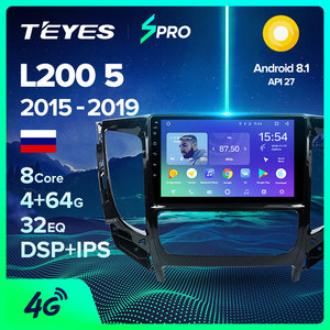 TEYES SPRO For Mitsubishi L200 5 2015 - 2019 Car Radio Multimedia Video Player Navigation GPS Android 8.1 No 2din 2 din dvd(China)