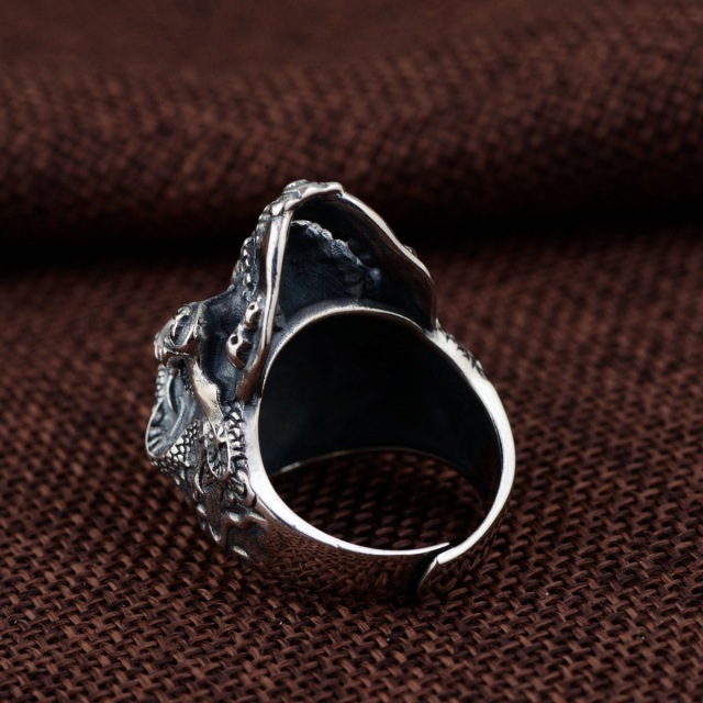 ORIGINAL 925 STERLING SILVER GOTHIC SKULL RINGS