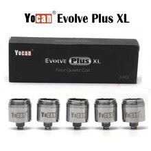 Original 5pcs/box Yocan Evolve Plus XL QUAD Quartz Rod Coil Replacement Atomize Core For Evolve XL Wax Tank
