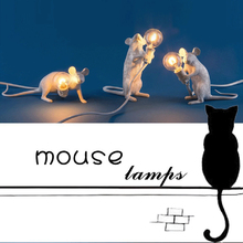 cute led resin animal rat mouse desk lights small art mouse children s table lamp lights small mini mouse light night light Modern Resin Mouse Table Lamp LED mouse Table Lamps Desk Nordic Kids' Room Decor LED Night Lights EU/AU/US/UK Plug
