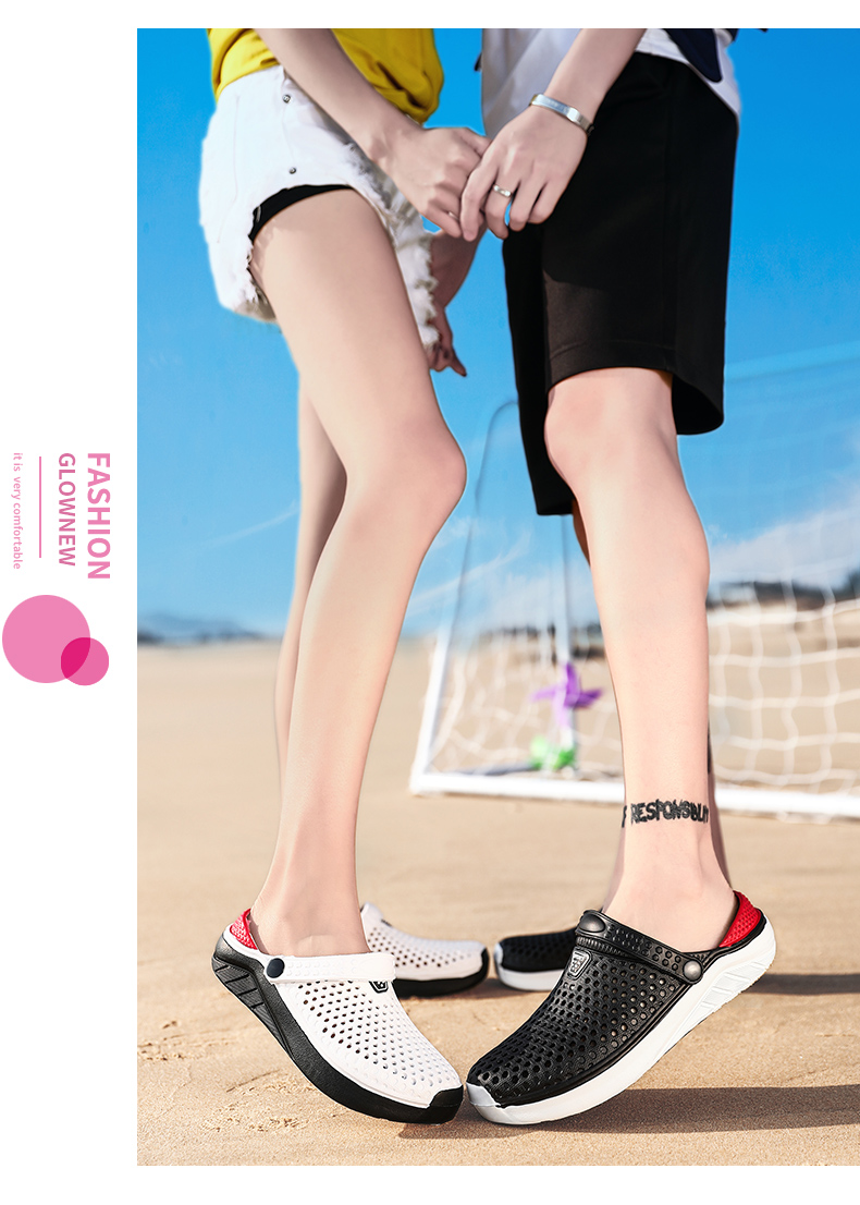 H28aa91e9680a47b8bd1ac2fb7af7ba25u - Summer Beach Sandals Lightweight Lovers Garden Shoes Non-slip Water Shoes Men White Slippers Clogs For Women Size 36-45