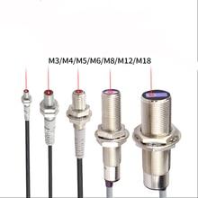 M12 Laser interruttore Fotoelettrico Sensore di riflessione Diffusa fotoelettrico Laser range del sensore di luce Visibile