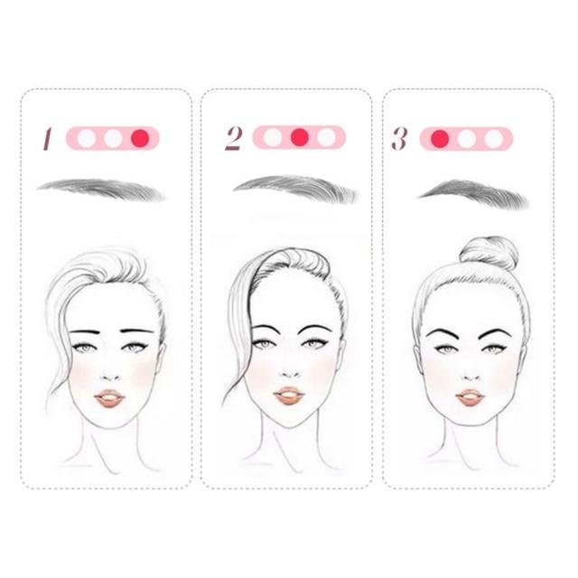 3 In 1 Eyebrow Stencils Handheld Eyebrow Card Thrush Tools Eyebrow Shaping Tools 5