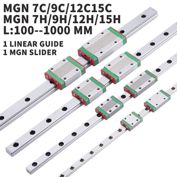 3D Printer MGN7C MGN9C MGN12C MGN15C L 100 350 400 500 600 800mm miniature linear rail slide 1pcs MGN linear guide MGN carriage|Linear Guides|Home Improvement -