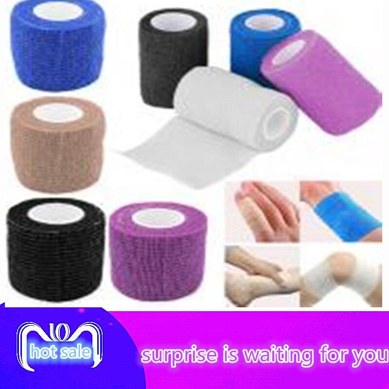 1 Pcs 7.5cm*5m Health Care Treatment Gauze Tape Elastic Bandage Camping Tools Survival Kit First Aid Medical Self-Adhesive