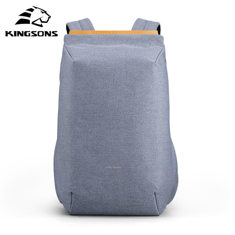 Kingsons 2020 New Anti-thief Fashion Men Backpack Multifunctional Waterproof 15.6 Inch Laptop Bag Man USB Charging Travel Bag