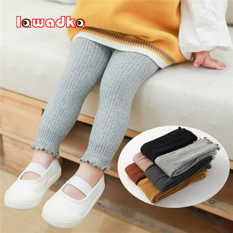 Lawadka Autumn Winter Tights for Children Solid Baby Girls Pantyhose Fashion Knitted Cotton Kids Clothes Accessories 2020 New
