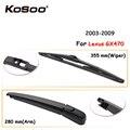 KOSOO Авто Задняя щетка автомобильного стеклоочистителя для Lexus GX470 355 мм 2003-2009 заднего стекла стеклоочистителей рычаг  автомобильные аксессуа...
