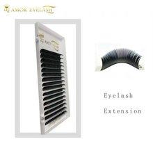QD AMOR 16lines Korea PBT fiber russian volume lash false mink eyelash extension individual eyelashes natural supplies