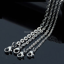 100pcs Good Quality 1.2 1.5 2 2.5 3mm 316L Stainless Steel Cable Chains Pendant Necklaces Men Women's Lady DIY Jewelry Wholesale