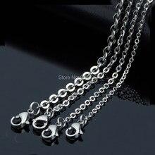 100 stücke von 1,2mm 1,5mm 2mm 2,5mm 3mm 4mm 316L Edelstahl Kabel Kette anhänger Halsketten Männer Frauen Dame Diy Schmuck Großhandel