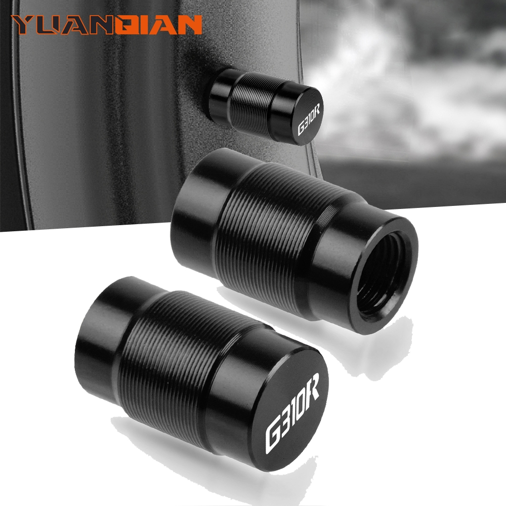 Motorcycle <font><b>Accessories</b></font> Couple Aluminum For <font><b>BMW</b></font> <font><b>G310R</b></font> G 310 R Vehicle Wheel Tire Valve Stem Caps Covers For Universal cycle image