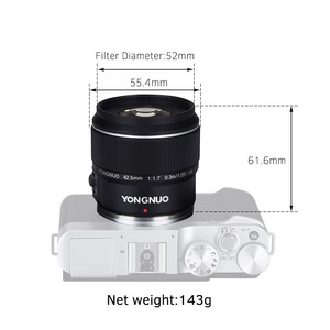Image 3 - YONGNUO YN42.5mm F1.7M Large Aperture AF MF Lens Standard Prime Lens for Olympus E M5 Mark II III E PL9 PEN F