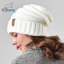 ICEbear Winter Knitted Hat Women Hat Slouchy Beanie for Girl
