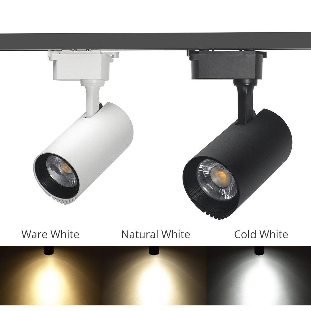 30W Luzes Da Trilha LEVOU Faixa Holofotes Trilho de Alumínio Luminárias Loja de Fruta Sapato Noite Iluminação Da Loja de Roupas
