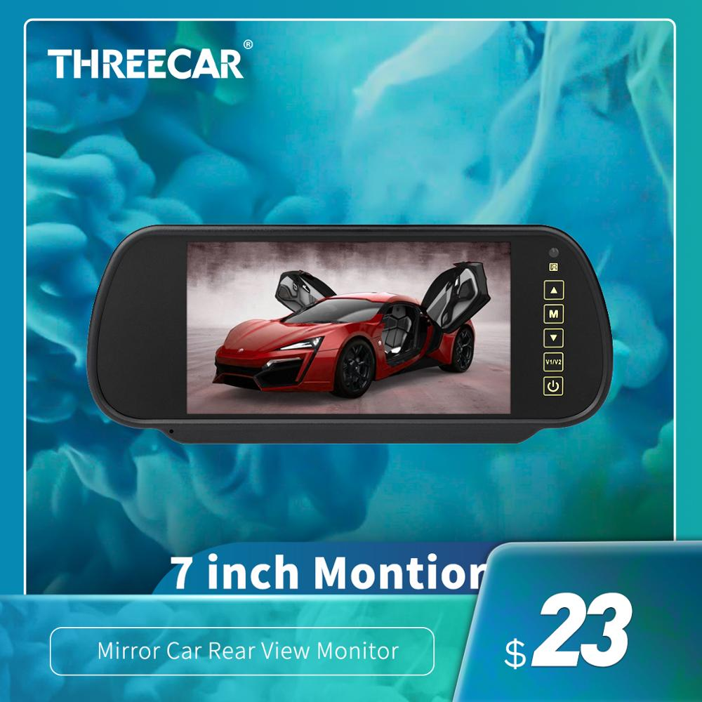 High Quality 7 inch LCD Display Rearview Mirror Car Monitor Reversing Backup Rear View Camera priority AV LED Night Vision(China)