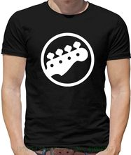Bass Guitar Headstock - Mens T Shirt / Player Printed Summer Style Tees Male Harajuku Top Fitness Brand Clothing(China)