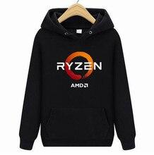 Neue Beliebte Amd Gaming Ryzen Cpu 2 Männer Schwarz hoodies Größe XS-4Xl Kühlen Casual Stolz Hoodies Männer Unisex Neue Mode hoodies
