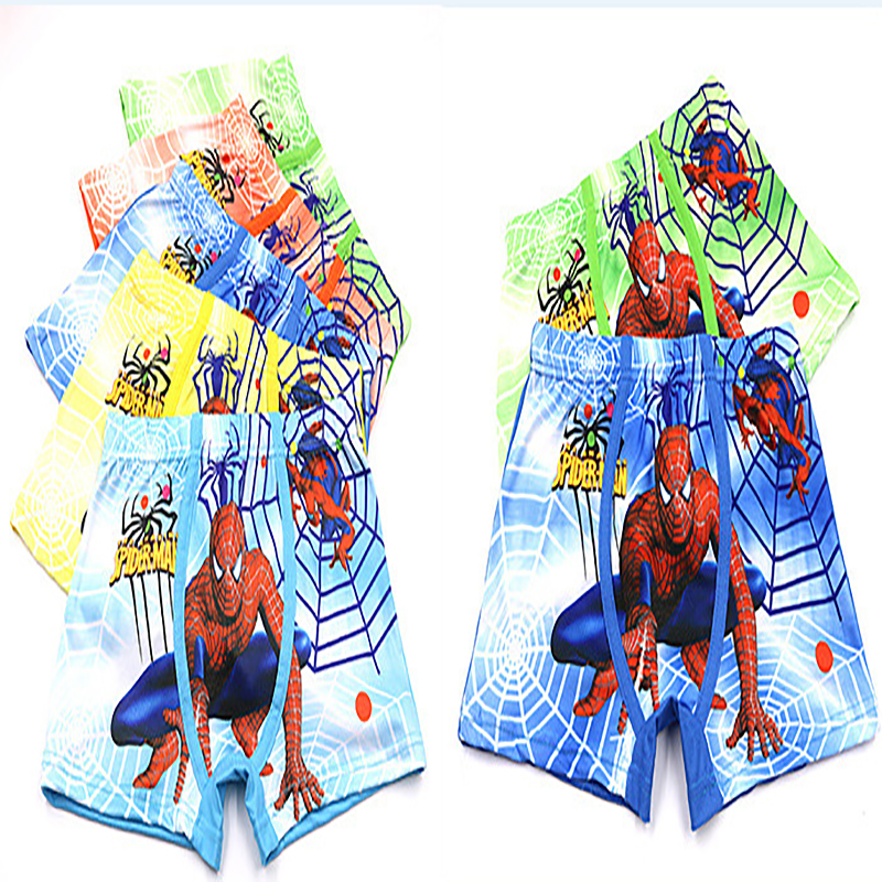 Boys Cotton Boxers Underwear Movie Comic Boxers Underpants Super Hero Spiderman Kids Cotton Panties Male Under Wear