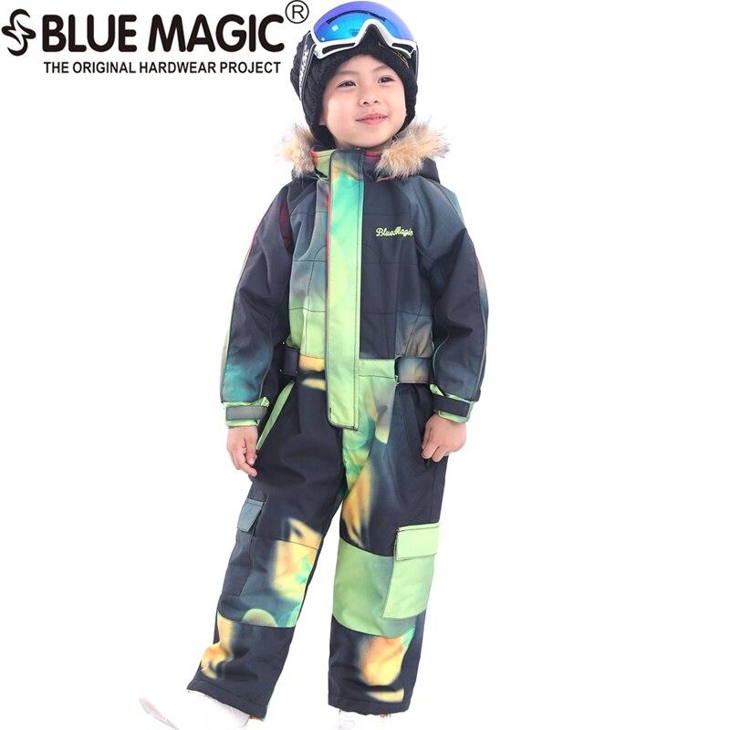 19 лыжных костюмов bluemagic для детей, водонепроницаемый комбинезон для прогулок на открытом воздухе для девочек и мальчиков, куртка для сноуборда Водонепроницаемый Лыжный комбинезон-30 градусов - Цвет: TBC