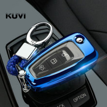 car key Case Cover For Ford Ranger C-Max S-Max Focus Galaxy Mondeo Transit Tourneo Custom 3 MK3 4 filp Key Fob case