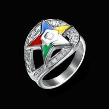 Rvs Volgorde Van De Eastern Star Masonic Ringen Oes Ringen Voor Mannen Vrouwen