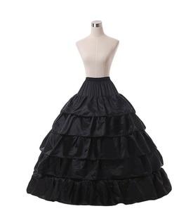 Image 5 - Trắng 4 Vòng Cưới Bầu Crinoline Cô Dâu Petticoat Váy Tây Nam Không